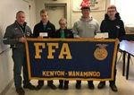 CFS Presents a $3,000 Grant to the Kenyon-Wanamingo FFA Chapter.